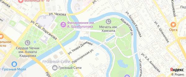 Улица Чехова на карте Грозного с номерами домов
