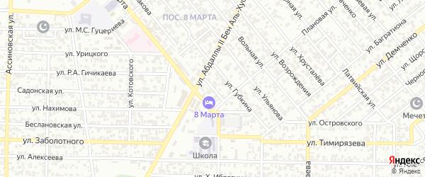 Перекопская улица на карте Грозного с номерами домов