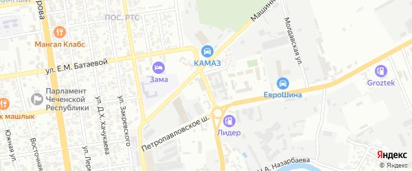 Бригадная улица на карте Грозного с номерами домов