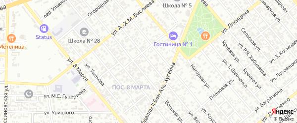 Улица Возрождения на карте Грозного с номерами домов