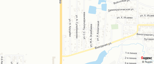 Улица А.Сулейманова на карте Грозного с номерами домов