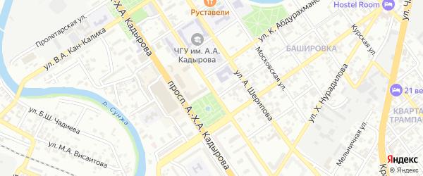 Интернациональная улица на карте Грозного с номерами домов