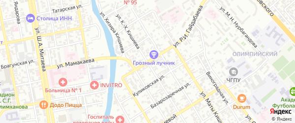Центороевская улица на карте Грозного с номерами домов