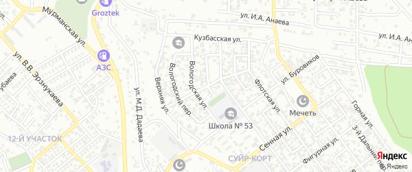 Профсоюзная улица на карте Грозного с номерами домов