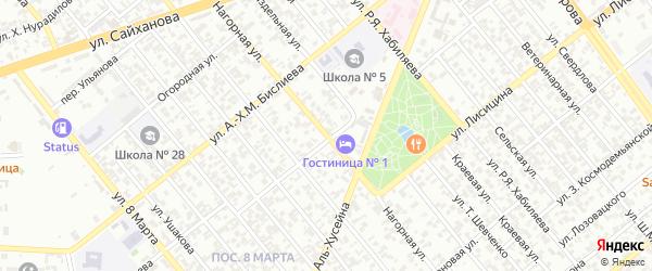 Нагорная улица на карте Грозного с номерами домов