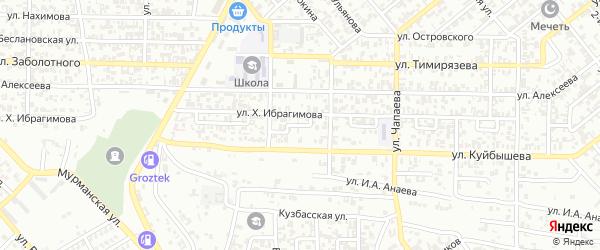 Кирова 2-й переулок на карте Грозного с номерами домов