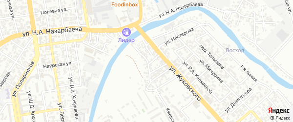 Насыпная улица на карте Грозного с номерами домов