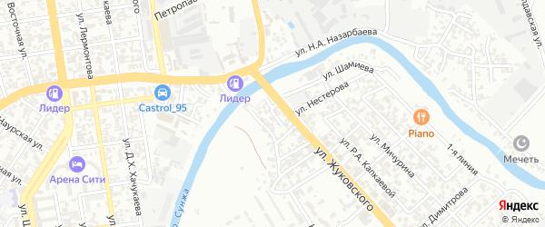 Внутренняя улица на карте Грозного с номерами домов