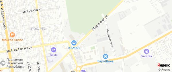 Машинная улица на карте Грозного с номерами домов