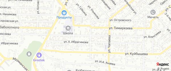 Улица им Алексеева на карте Грозного с номерами домов