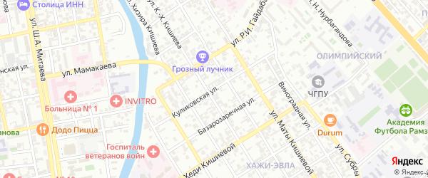 Куликовская улица на карте Грозного с номерами домов