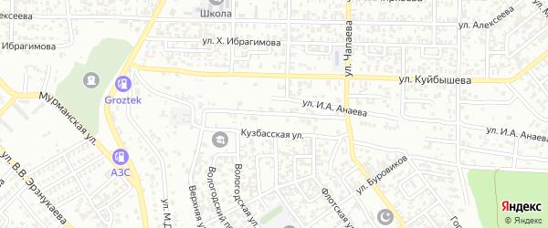 Улица Д-А.А.Каурнукаева на карте Грозного с номерами домов