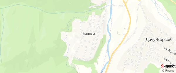 Карта села Чишки в Чечне с улицами и номерами домов