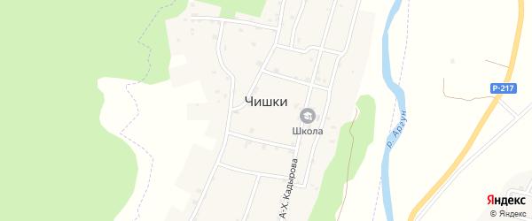Санаторная улица на карте села Чишки с номерами домов