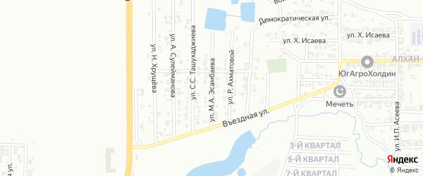 Проспект им М.А.Эсамбаева на карте Грозного с номерами домов