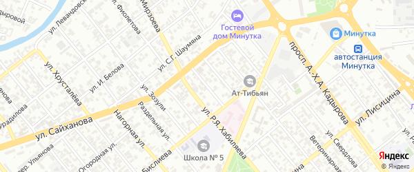 Сайханова 1-й переулок на карте Грозного с номерами домов
