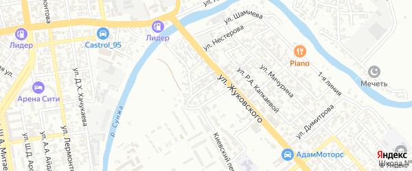 Владивостокская улица на карте Грозного с номерами домов