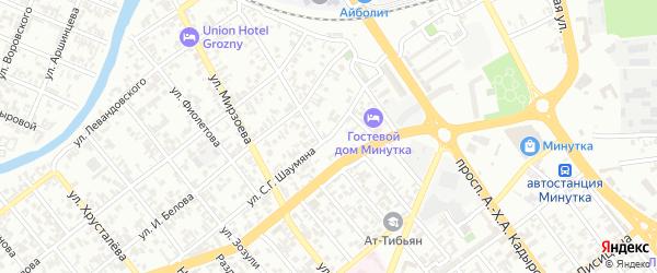 Шаумяна 2-й переулок на карте Грозного с номерами домов
