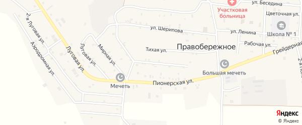 Улица З.Космодемьянской на карте Правобережного села с номерами домов