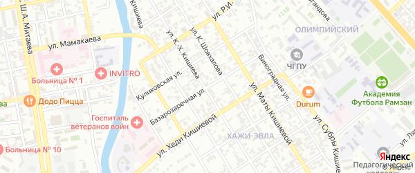 Базарозаречная улица на карте Грозного с номерами домов