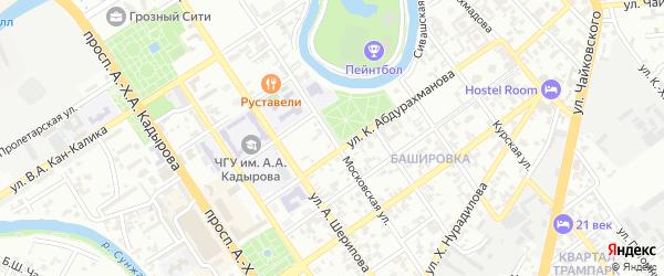 Московская улица на карте Грозного с номерами домов