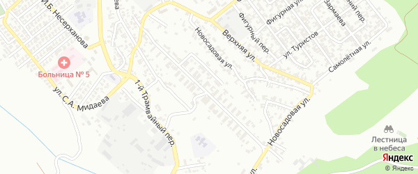 30-й участок на карте Грозного с номерами домов