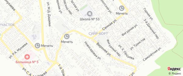 Верхняя улица на карте Грозного с номерами домов