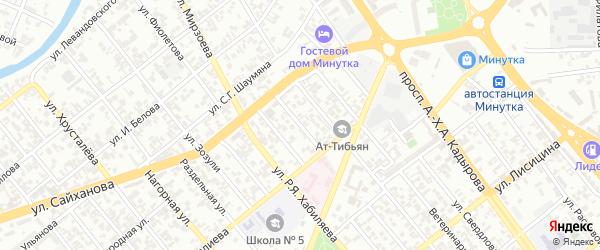 Мельничная 1-й переулок на карте Грозного с номерами домов