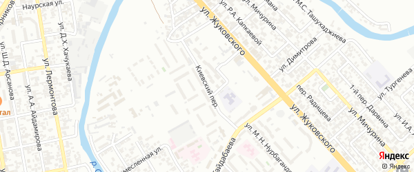 Киевский переулок на карте Грозного с номерами домов