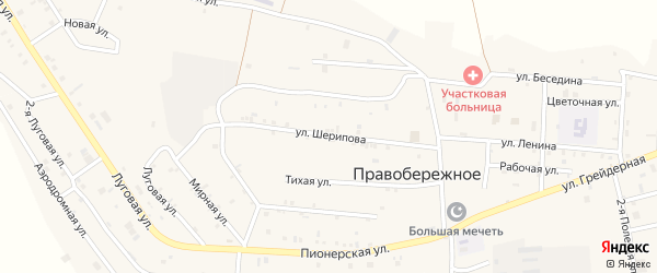 Улица А.Шерипова на карте Правобережного села с номерами домов