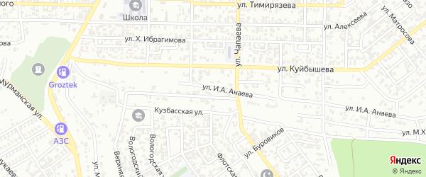 Улица И.А.Анаева на карте Грозного с номерами домов