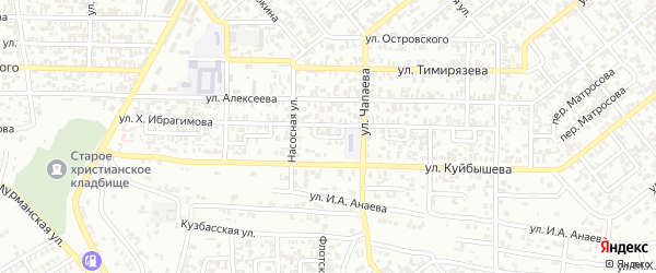 Кирова 3-й переулок на карте Грозного с номерами домов