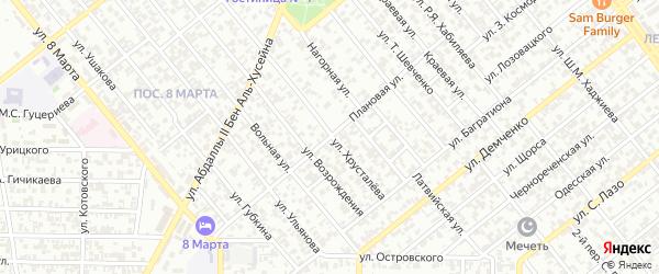 Плановая улица на карте Грозного с номерами домов
