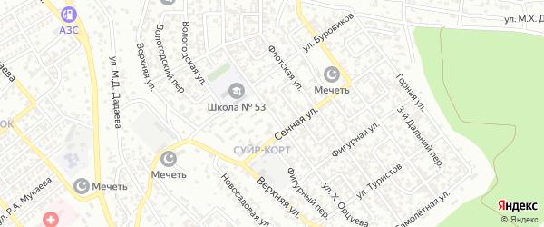 Улица им Хасана Орцуева на карте Грозного с номерами домов
