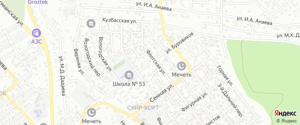 Улица Буровиков на карте Грозного с номерами домов