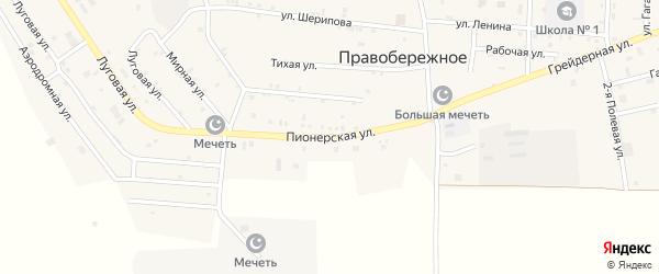 Пионерская улица на карте Правобережного села с номерами домов