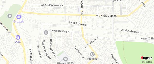 Кузбасская улица на карте Грозного с номерами домов