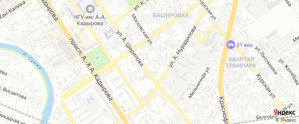 Улица им Горького на карте Грозного с номерами домов