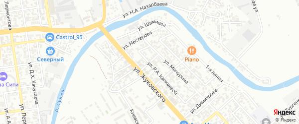Улица им В.П.Орлова на карте Грозного с номерами домов