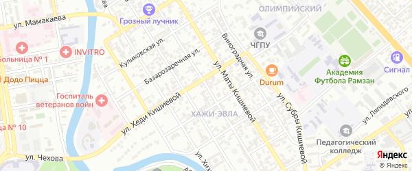 Большая улица на карте Грозного с номерами домов