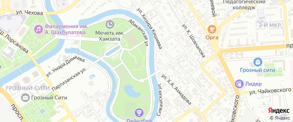 Абаканская улица на карте Грозного с номерами домов