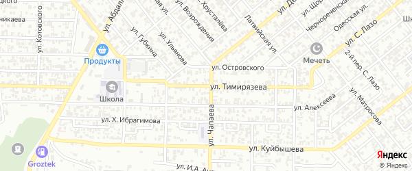 Улица Тимирязева на карте Грозного с номерами домов