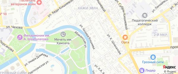 Улица им Висхи Кишиева на карте Грозного с номерами домов