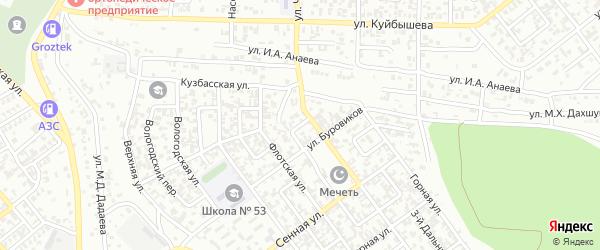 Дальний 1-й переулок на карте Грозного с номерами домов