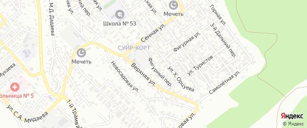 Фигурный переулок на карте Грозного с номерами домов
