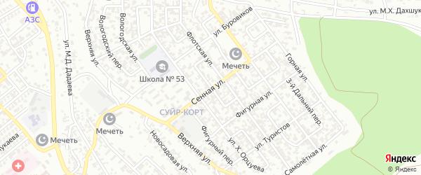 Флотский 2-й переулок на карте Грозного с номерами домов