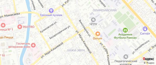 Улица Субры Кишиевой на карте Грозного с номерами домов