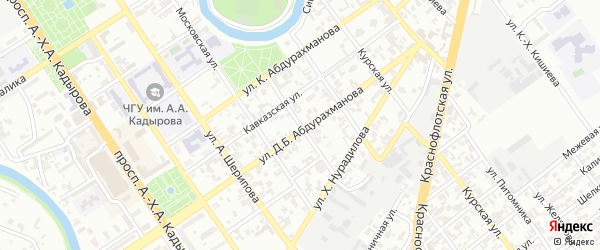Черноморская улица на карте Грозного с номерами домов