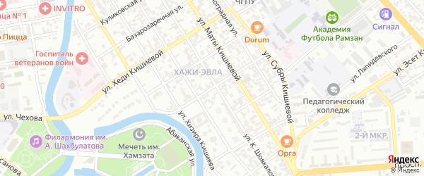 Улица Муцы Кишиева на карте Грозного с номерами домов