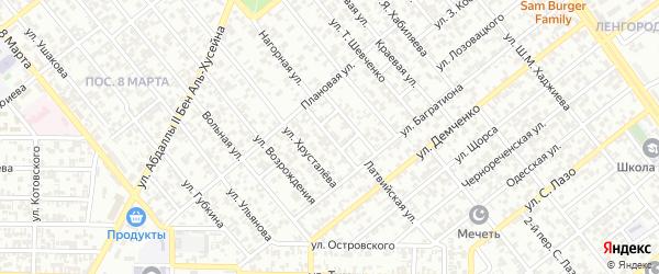 Улица им Осипенко на карте Грозного с номерами домов